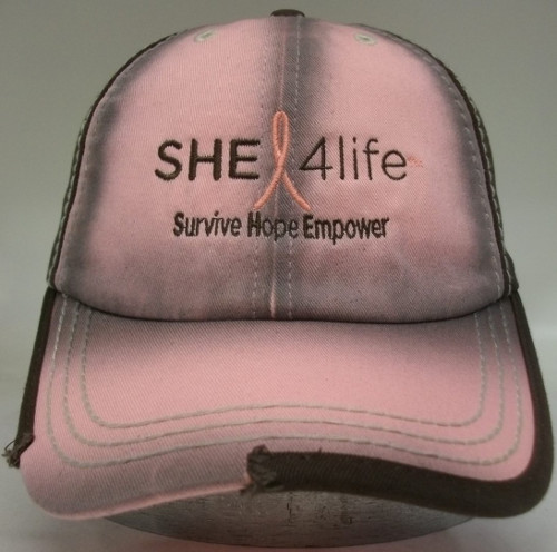 She 4Life Pink-Brown Wash Hat